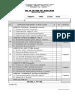Lista de Cotejo de Discurso Oral
