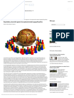Disparidades y desarrollo regional. Una exploración desde la geografía política