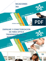 NORMALIZACIÓN NTC PARA EMPALME Y CONECTORIZACION DE FIBRA OPTICA TRANSMISION OM – OS