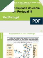 A Especificidade do clima  em Port. III  - 15-16