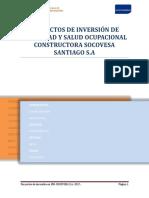 Proyectos de Inversión de Seguridad y Salud Ocupacional Constructora
