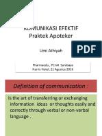 EDUPHARMA Komunikasi Efektif Praktik Apoteker Umi Athiyah