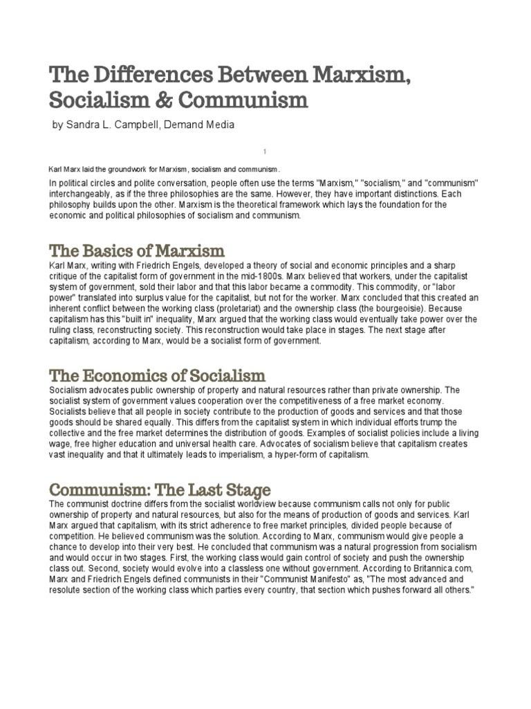 communism and capitalism similarities