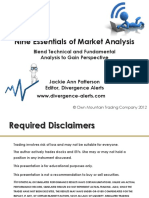 Nine Essentials of Market Analysis