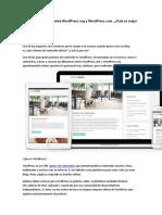 Qué Diferencias Hay Entre WordPress y WordPress.org -