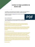 Guía Para Construir El Mejor Portafolio de Diseño Web