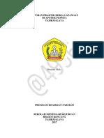 Laporan Praktik Kerja Lapangan Di Apotek Puspita