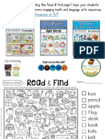 Read & Find - Back to School