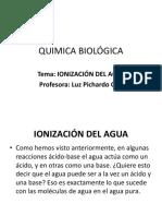 El Agua- Quimica Biológica