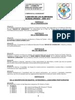 Bases de Olimpiadas Deportivas Guadalupanas 2017