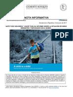 11-06-17 Unicef Niños Migrantes