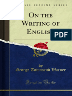 On the Writing of English