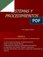Sistemas y Procedimientos