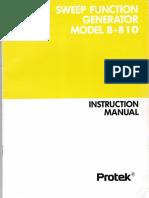 Sweep Function Generator Model B - 810