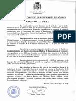 2016 Convocatoria Elecciones Al Consejo de Residentes Españoles