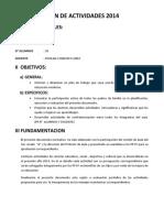 Plan de Actividades 2014