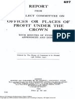 Report from the Select Committee on Offices or Places of Profit under the Crown