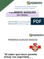 PRIMEROS AUXILIOS diapositiva