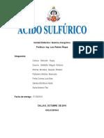 Informe Acido Sulfurico