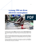 -EHang 184 Un Dron Eléctrico Monoplaza