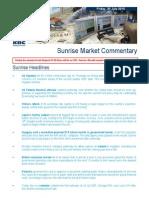 JUL 30 KBC Sunrise Mkt Commentary