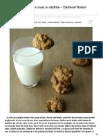 Blog.codrudepaine.ro-fursecuri Cu Fulgi de Ovaz Si Stafide Oatmeal Raisin Cookies