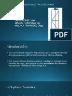 Diapositiva de Ascensor Electrico de Carga