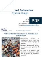 Robot and Automation System Design