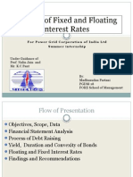 Analysis of Fixed and Floating Rates- PGCIL