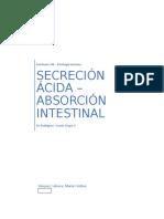 Seminario 13 - Absorción intestinal y Secreción Gástrica