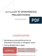 Approach to Spontaneous Pneumothorax