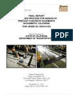 Precast Pavement Final Design Methodology