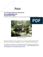 Kumara Reiki 2013 Attunement Notes