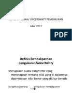 Uncertainty Pengukuran Revisi