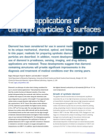 Medical Applications of Diamond Particles and Surfaces