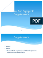 Herbal Ergogenic Supplements