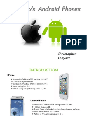 Difference between iphone vs android phone ppt | I Phone | Android