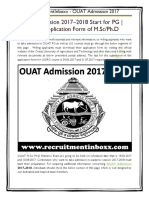OUAT Admission