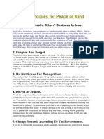 1Ten Principles for Peace of Mind