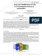 Failure Analysis And Modification of Yoke Assembly of Transmission System in Automobiles
