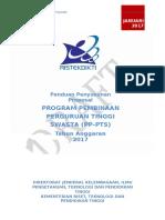 PP PTS Tahun Anggaran 2017