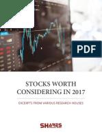 Stocks Worth Considering in 2017