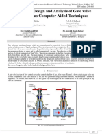 A Review on Design and Annalysis of Gate Valve using Various Computer Aided Techniques