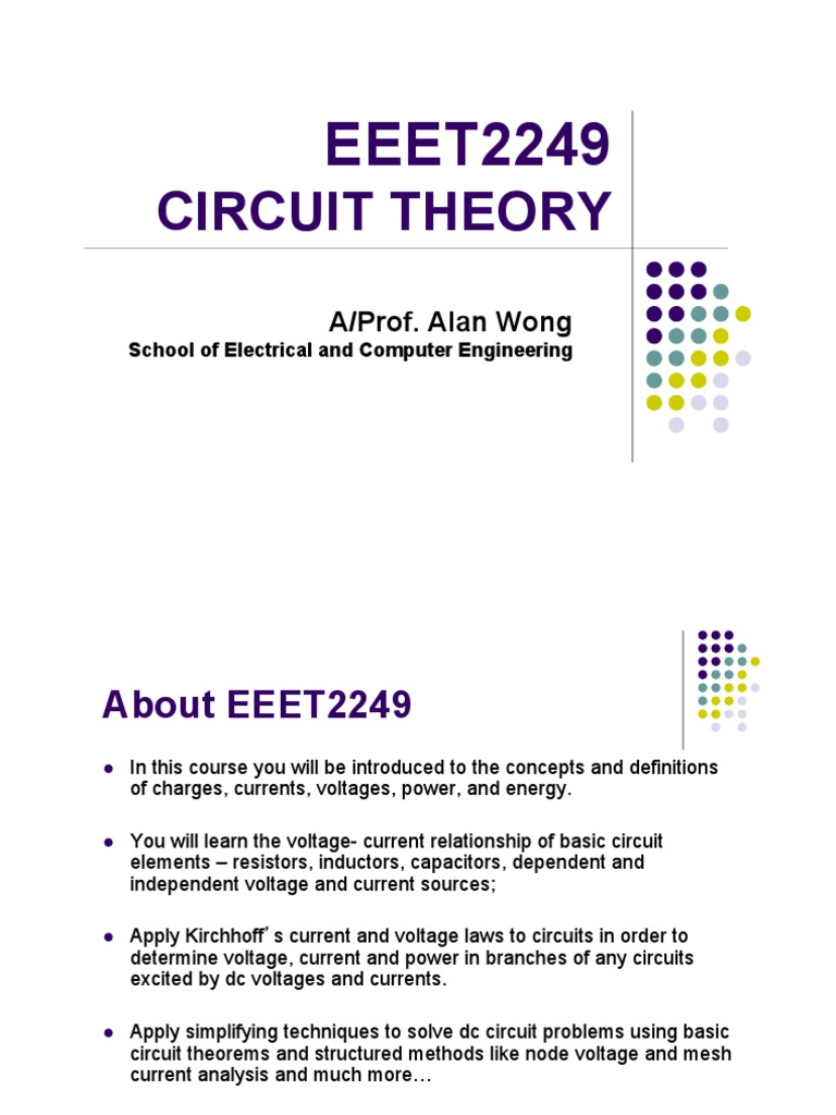 Eeet2249 Lecture Notes 1 2013 Electrical Resistance And Basic Dc Theory Circuit Analysis All Of The Conductance Resistor