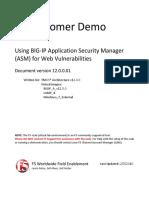 VLab Demo - Using ASM for Web Vulnerabilities - V12.0.0.01