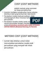 Perubahan Modal Anak (Bab 11 Allan Drebin), Metode Cost