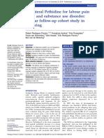 Cohort Study Pethidine