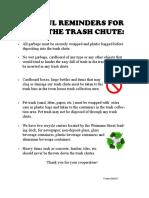 Trash Chute Reminders