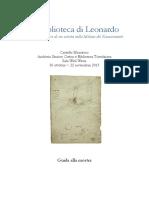 La Biblioteca Di Leonardo. Appunti e Let