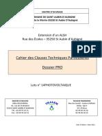 DCE CCTP Lot 14 Photovoltaique
